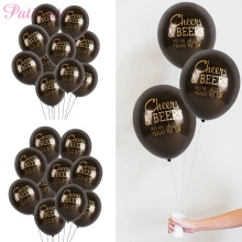 PATIMATE Cheer Beers Happy Birthday Helium Balloons Anniversary inflatable Weeding Party Supplies Latex Favors