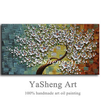 New Handmade Modern Large Canvas Oil Painting Palette Knife Thick 3D Flowers Paintings House Living Room