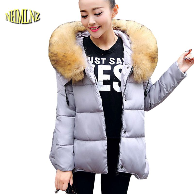 Winter Warm Cotton Down jacket New Style Large size Women Jacket Hooded Fur collar Jacket Thick Mantle Pregnant women Coat G2724 women winter coat leisure big yards hooded fur collar jacket thick warm cotton parkas new style female students overcoat ok238
