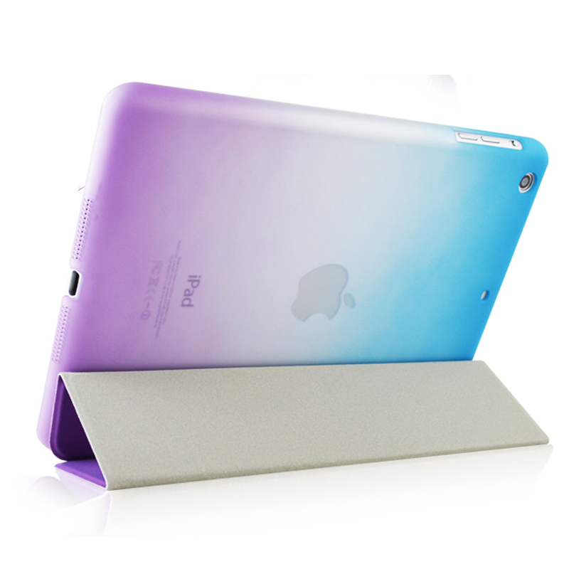 Rainbow Stand Leather Case For ipad mini 1 / 2 Retina / 3 Silk Slim Clear Transparent Smart Back Cover for apple ipad Mini 2 smart case for ipad mini 4 case transformer folding with stand slim pu leather transparent back cover for ipad mini4 7 9