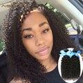 Необработанные 7А Бразильского Виргинские Волос Afro Kinky Вьющиеся Волосы Девственные Бразильские Волосы Ткать Пучки Вьющиеся Человеческих Волос