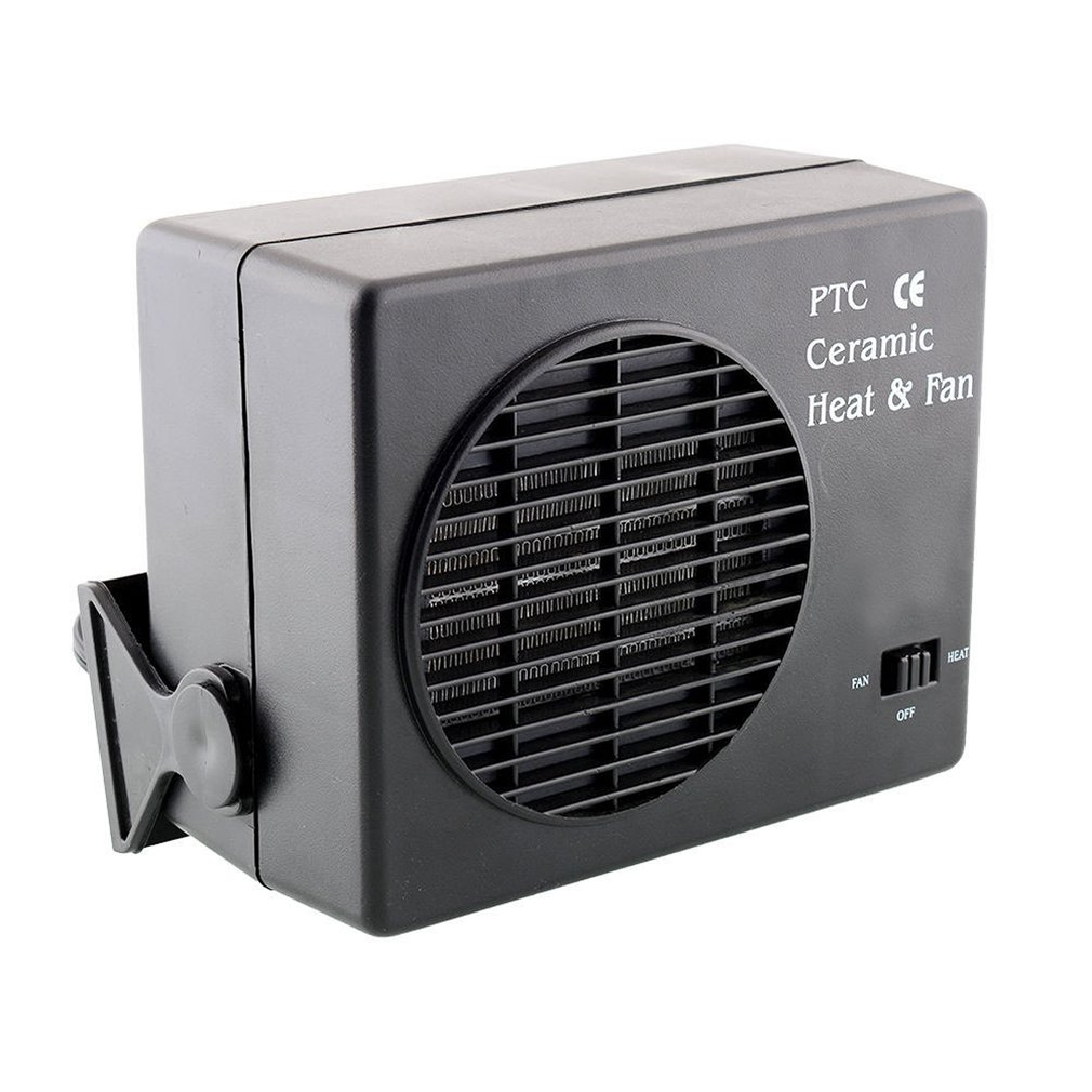 Car Ceramic Heater Cooling And Heating Fan Defroster 300W 150W High Power Portable Durable Black Color