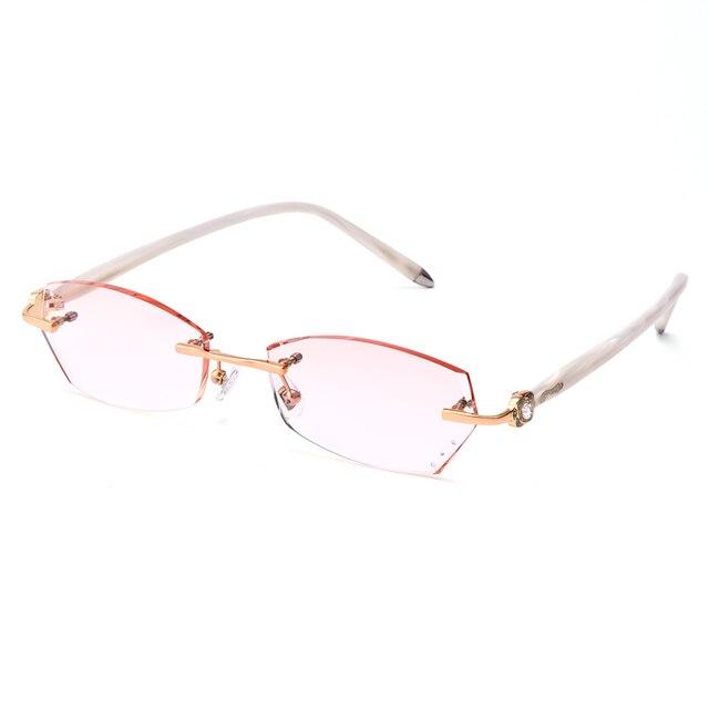 Gmei Оптический Q299 Без Оправы Алмазные Линзы Очков Рамки для Женщин Очки