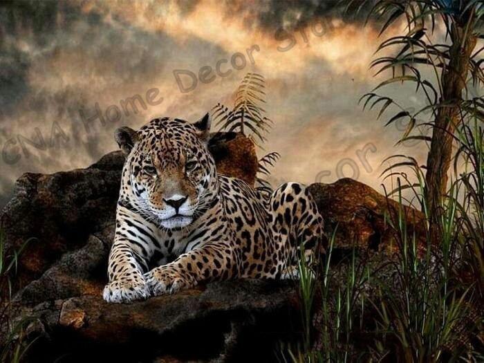 Tiger taladro completo Mosaico 5D Diy Diamond Bordado Pintura Resina - Artes, artesanía y costura - foto 3