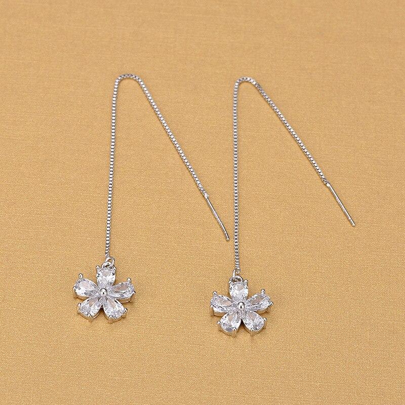 Купить bijoux длинные женские серебряные серьги с кисточками из стерлингового