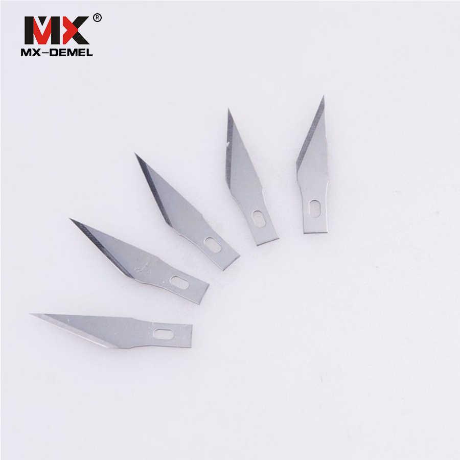 MX-DEMEL 6 шт./компл. металлический нож для скальпеля набор инструментов Резак гравюра лезвие ножей мобильный телефон ноутбук PCB DIY ремонт ручной инструмент