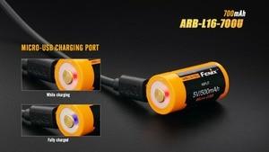 Image 3 - Fenix ARB L16 700U USB Rechargeable 700mAh Rechargeable Li ion 16340 RCR123A Battery
