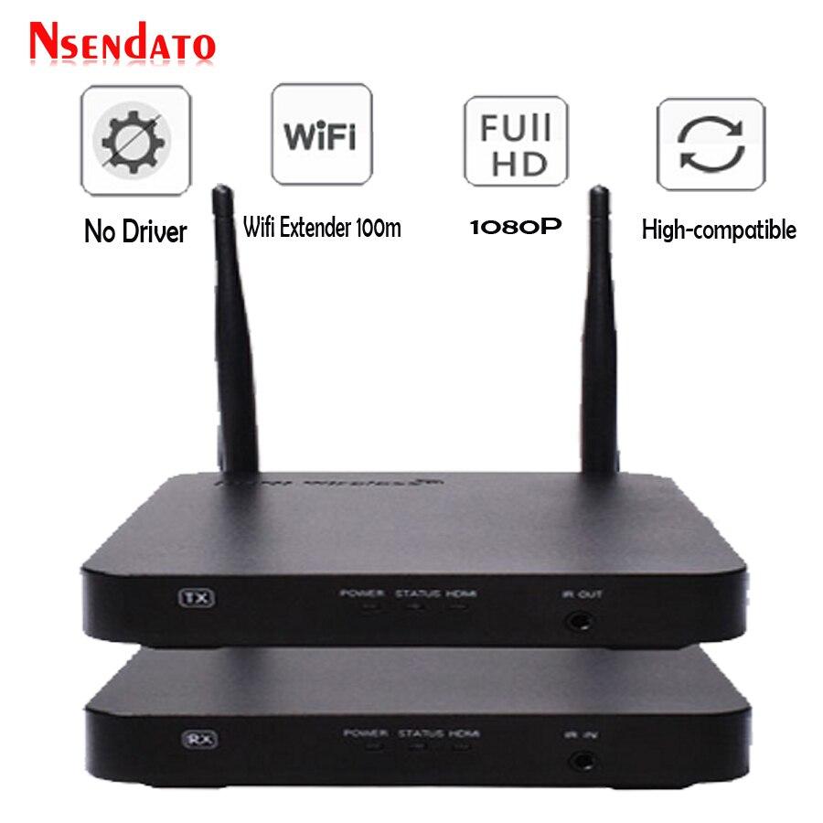 100 M Sans Fil HDMI Extender 2.4 GHz/5 GHz 1080 P Wifi HDMI 1.3 Audio Vidéo Expéditeur Émetteur Récepteur avec IR Soutien HDCP1.4 HDTV