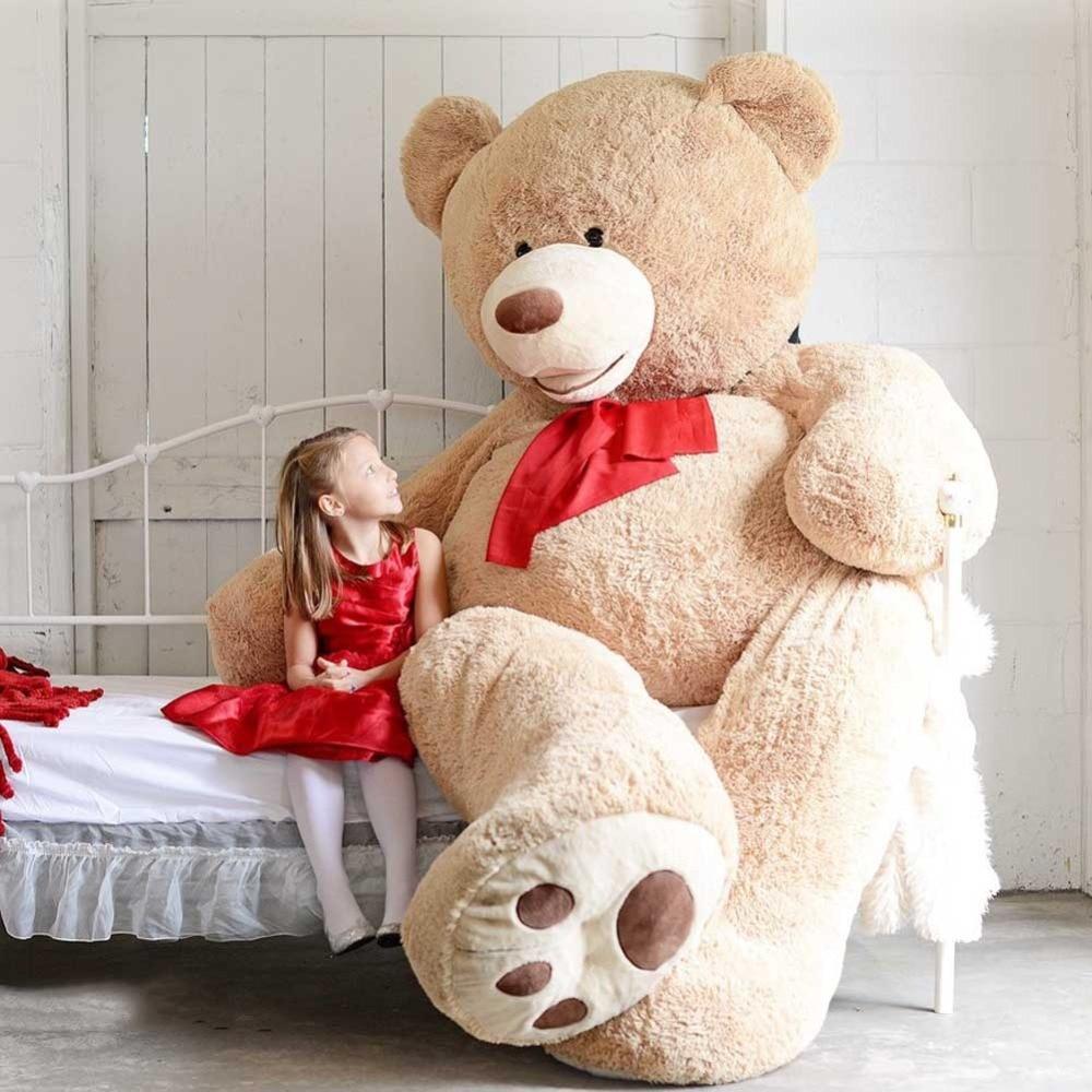 Niuniu Daddy 100cm Kulit Beruang Hilang Kosong Teddy Bear Hadiah - Mainan lembut - Foto 6