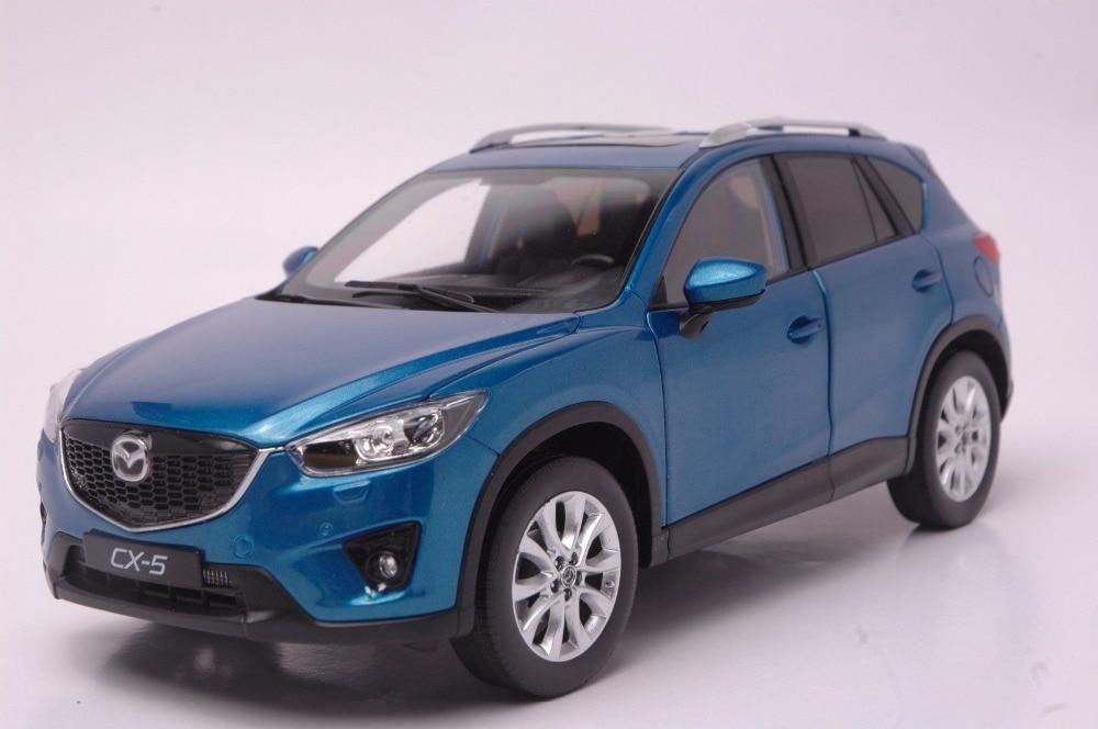 1:18 Diecast Model for Mazda CX-5 2014 Blue SUV Alloy Toy Car Collection Gifts CX5 CX 5 1 18 diecast model for mazda 6 atenza 2014 blue sedan alloy toy car collection gifts mx5 mx 5