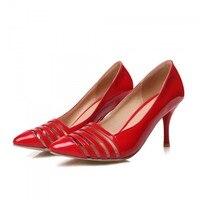Dames Schoenen Sale Medium(b,m) Sapato Feminino 2017 New Pumps High heeled Shoes Heels Pointed Toe Women's Prom Size 34 45 8 1