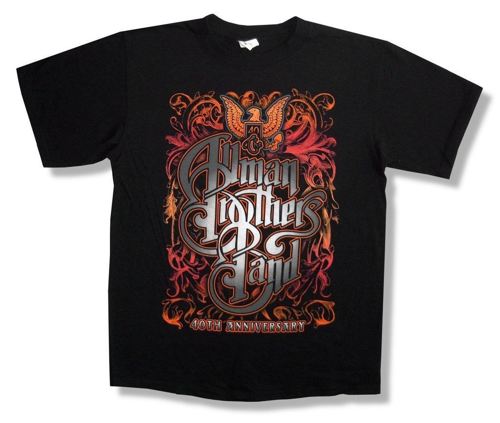 Allman Brothers Band Eagle 40Th Beacon Nyc 2009 Shows Black T Shirt New Official