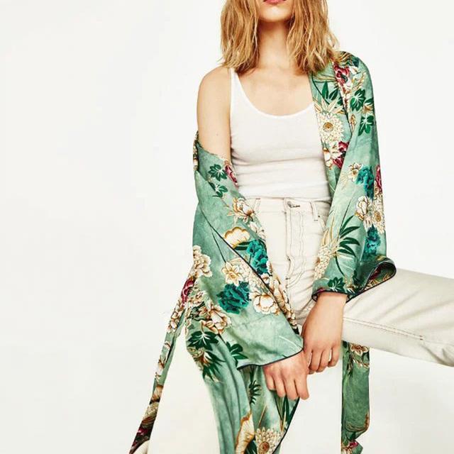 Vintage Ethnic  Kimono Shirt Women  Cardigan Casual Blouse