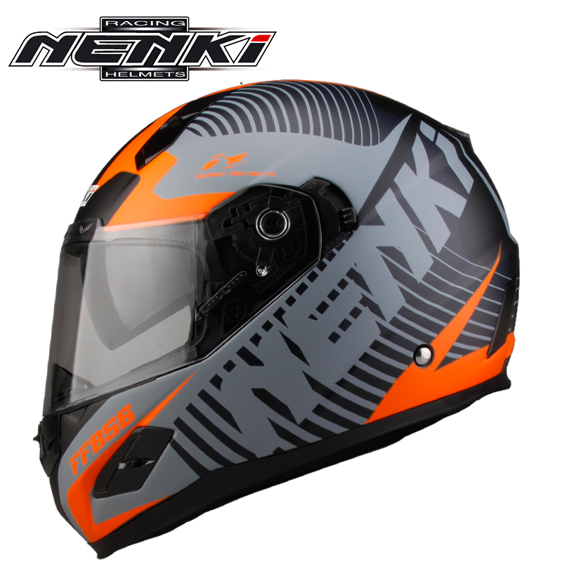 NENKI Motorcycle Fiberglass Helmet Shell Moto Touring Helmets Motorbike Racing Full Face Helmet DOT Certification casque