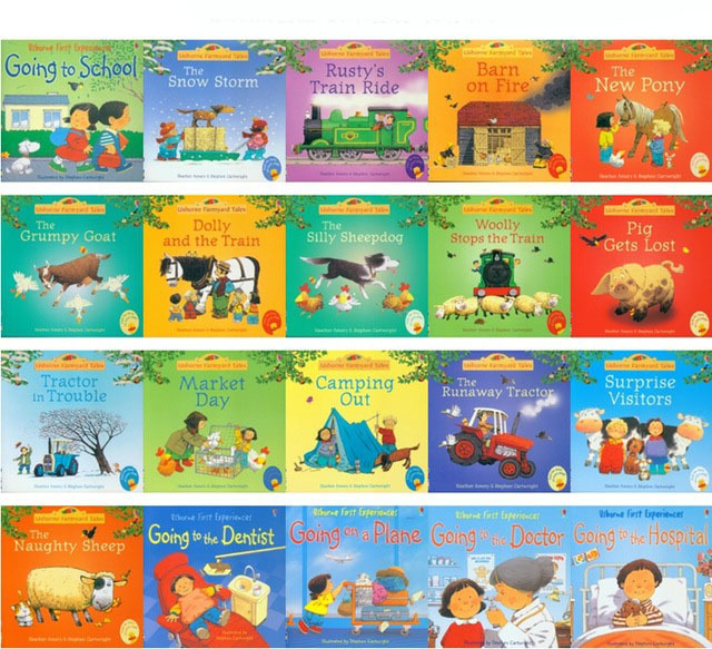 20pcs/set English Picture Books 15x15cm