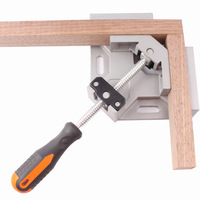 Single Handle 90 Degree Right Angle Clamp Aluminum Alloy Welded Tool Woodworking Frame Clip CLH 8