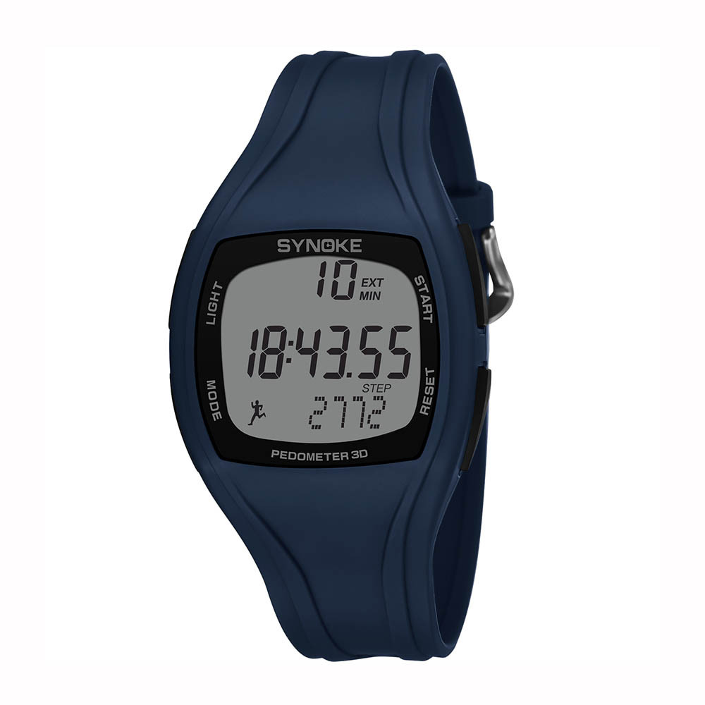 Synoke Pedometer Wristwatches Chronograph Digital Outdoor Men's Fashion 50m Waterproof