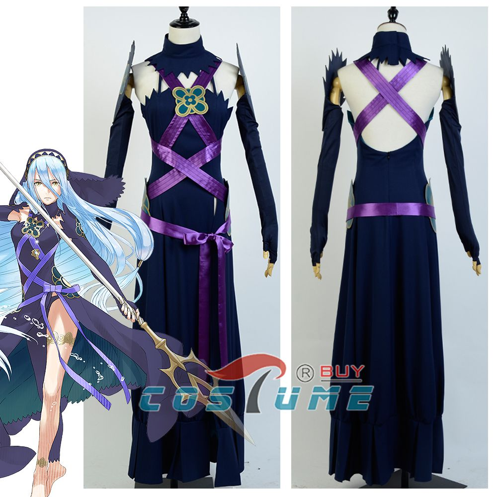 Fire Emblem IF Fates Aqua Diva Night Dress Cosplay Costume Custom Made Free Shipping