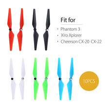 TOMLOV 10pcs CW CCW Propellers Blade for Phantom 3 Cheerson CX-20 CX-22 Xiro Xplorer RC Drone Quadcopter Spare Part cheerson cx 10w quadcopter