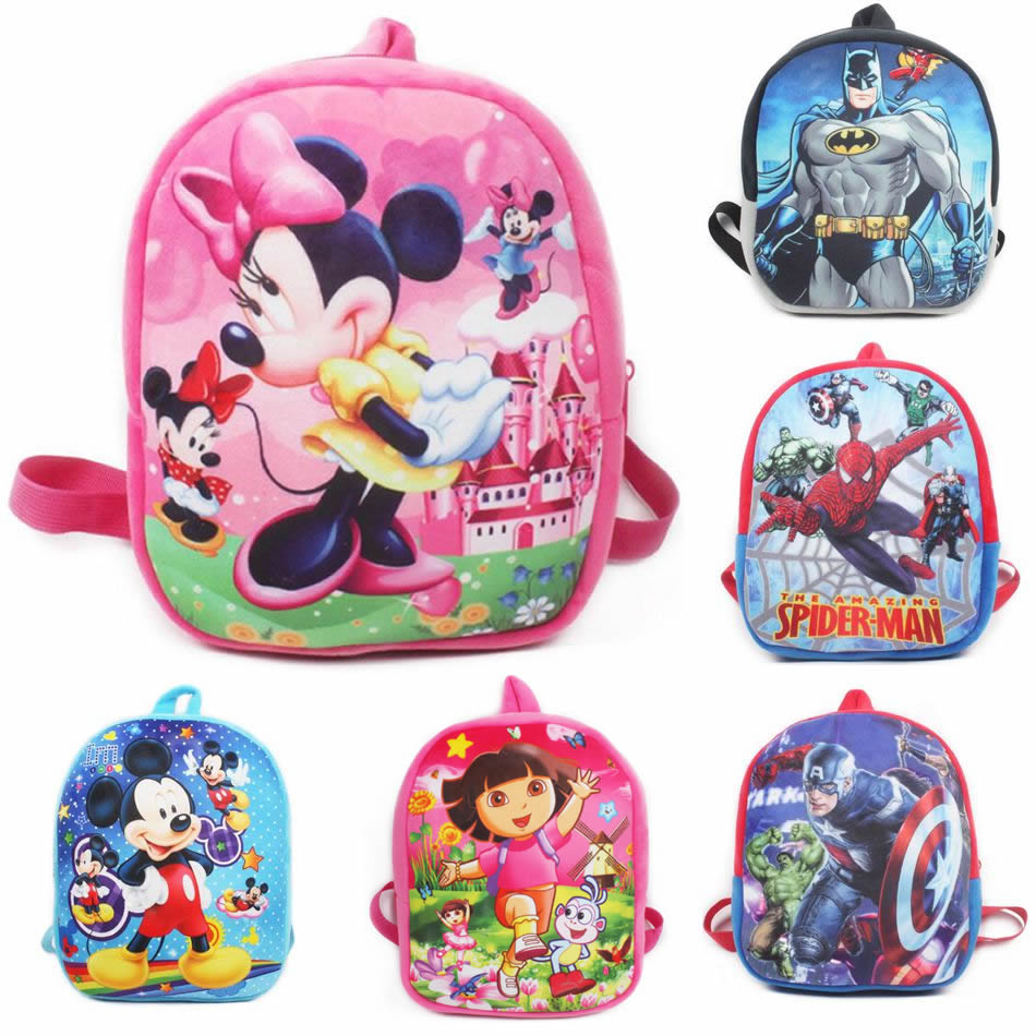 Cartoon Plush School Backpack For Kids Mickey Minnie Students In School Bags Children Backpacks Mochila Infantil(China)