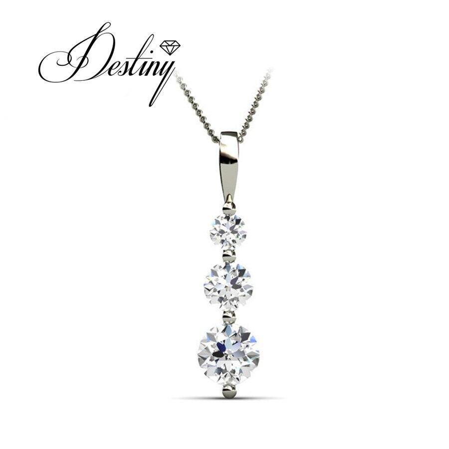 Destino Jóias Embelezado com cristais de Swarovski colar Genuine 925 Pingente de Prata DP0084