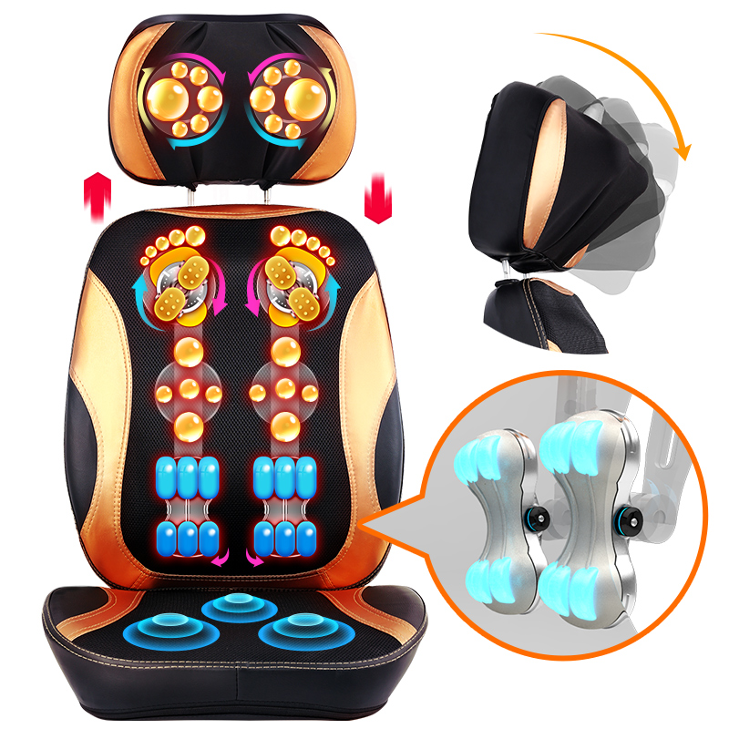 цена на Cervical massage device multifunctional pillow neck household massage pad full-body massage cushion 110-240V