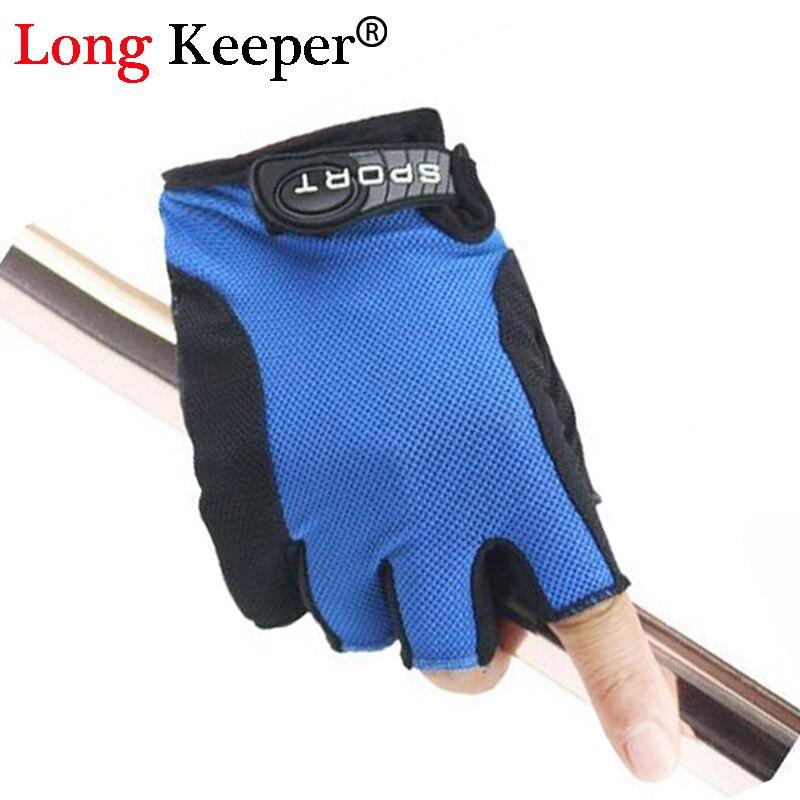 Long Keeper Fitness Gloves Women Half Finger Breathable Ladies Sports Gym Gloves Summer Silicone Non-slip Gloves luvas G267
