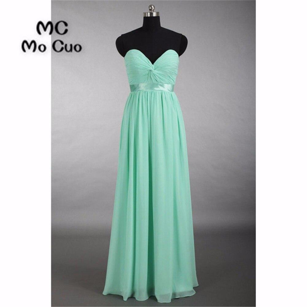 Aliexpress.com : Buy 2018 Mint Bridesmaid Dresses Long Sweetheart ...