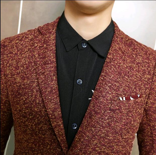 bleiser masculino blaser Korean Spring Designer Brand Mens Slim ...