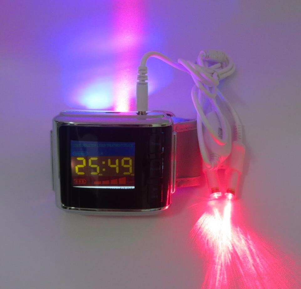 2017 new invented LASPOT brand Red laser and Blue LED watch for lower high blood pressure