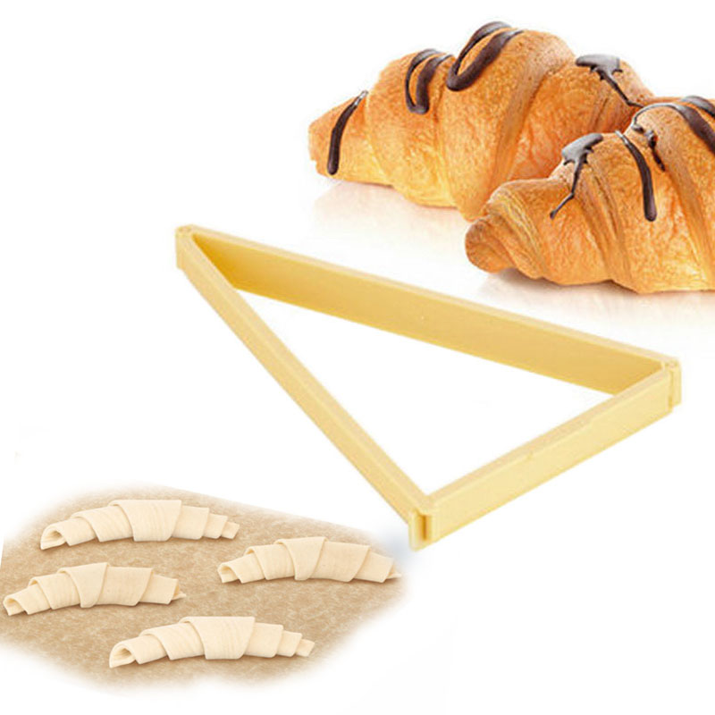 DIY Croissant Kaiser Roll Maker Mold Cake Bread Cutter Tools for Xmas Baking Donut Bread Cookie Pastry Croissant Bake Bread Tool image