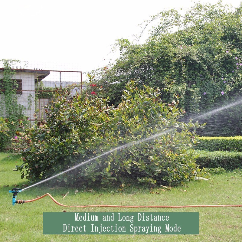 Image 3 - Garden Sprinklers Automatic watering Grass Lawn 360 Degree Rotating Water Sprinkler 3 Nozzles with Pipe Hose Irrigation System-in Garden Sprinklers from Home & Garden