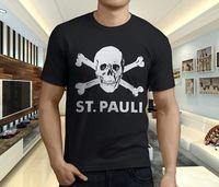 New Popular ST PAULI FC AntiFascism Soccerer Symbol Men's Black T-shirt Size S-3XL