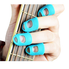 1 pc Guitar String Finger Guard Fingertip Protector Silicone Left Hand Finger Protection Press Guitar Parts Accessories S/M/L цена и фото