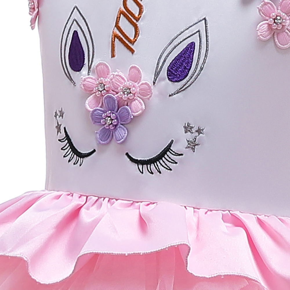 HTB1dNsCaBSD3KVjSZFqq6A4bpXaP New Unicorn Dress for Girls Embroidery Ball Gown Baby Girl Princess Birthday Dresses for Party Costumes Children Clothing