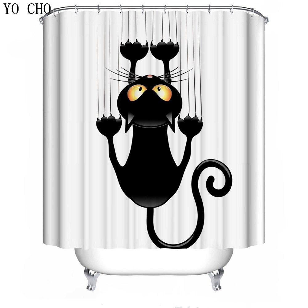 Einzigartige Anime Katze Weihnachten Duschvorhang 3d bad vorhang ...