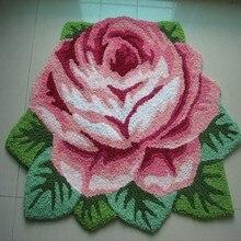 1 розовый ковер, напольный коврик ручной работы, противоскользящий современный ковер, ковры для кухни, ковры в форме розы