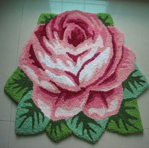 1 Rose Carpet Floor Mat Handmade Rug Anti Slip Modern Kitchen Area Rugs