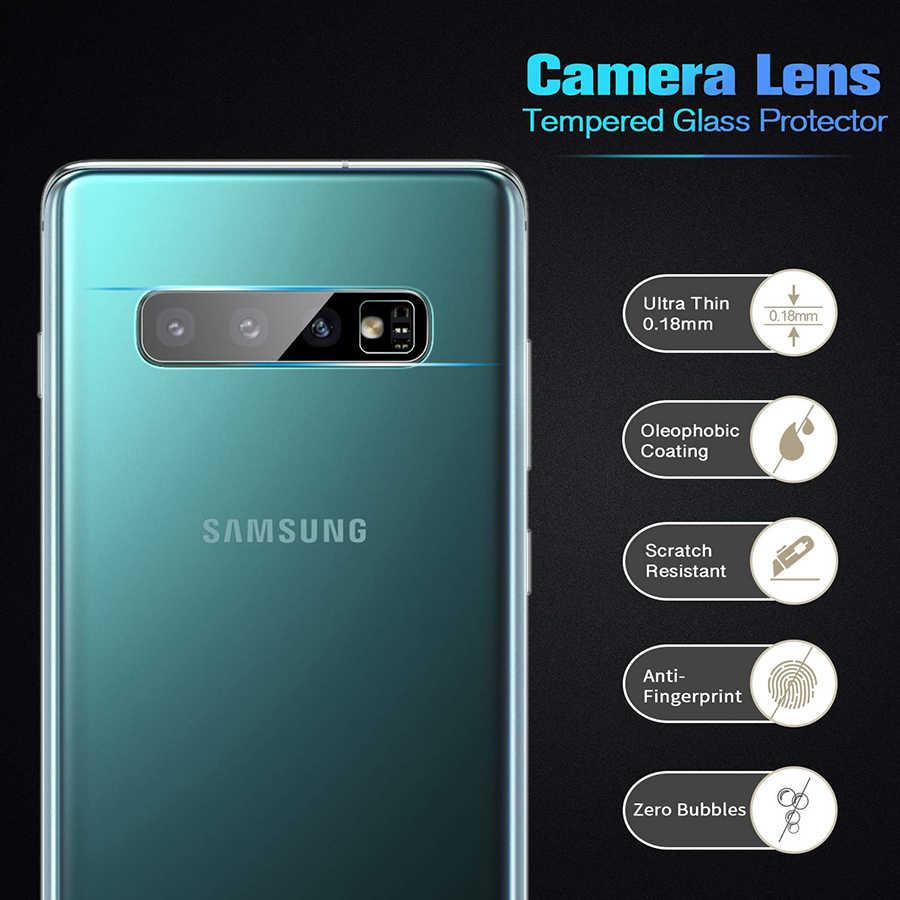الكاميرا الخلفية عدسة الزجاج المقسى لسامسونج غالاكسي S10 زائد/S10 + SM-G975 A9 A7 2018 A50 واقي للشاشة واضح طبقة رقيقة واقية