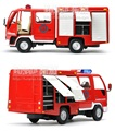 High Simulation Exquisite Model Toys: ShengHui Car Styling Isuzu Multifunction Fire Car Model 1:32 Alloy Truck Model Best Gifts