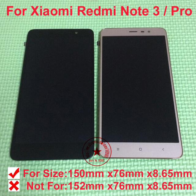 Top novo hongmi note3 screen display lcd de toque digitador assembléia com moldura para xiaomi redmi note 3 pro substituição móvel partes