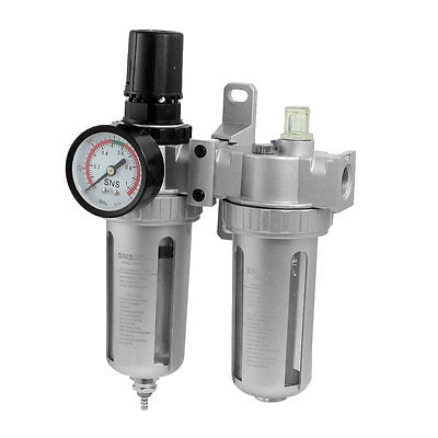 3/8 PT Port Pneumatic Filter Regulator Air Source Treatment Unit w Gauge SFC-300 afr2000 air processor free shipping pneumatic air source treatment filter regulator w pressure gauge