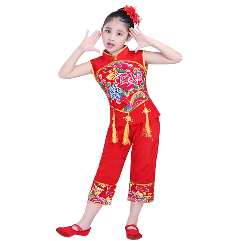 ca059cc48 Songyuexia Chinese Folk Dance Costume Children Han Ethnic National Dance  Clothing Children Girls Classical Dance Children dance-in Chinese Folk Dance  from ...