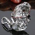 "Brand New 100% 316L Stainless Steel Men's Tiger Biker Chain Bracelet Bangle Fashion Jewelry 8.66"" Silver Tone Heavy"