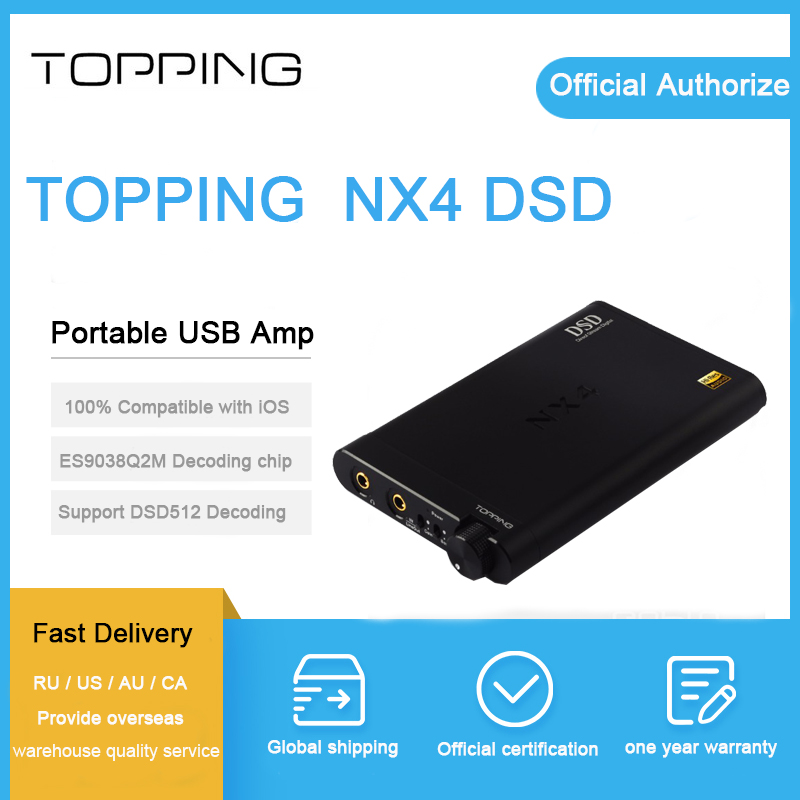 Topping NX4 DSD Portable Headphone amplifier es9038q2m xmos usb decoder HiFi Digital Stereo Audio AMP for iPhone Collect coupon topping nx3 portable earphone hifi stereo audio amplifier amp tpa6120a2 opa2134
