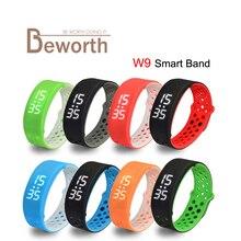 W9 Smart Band IP67 водонепроницаемый wbracelet браслет bluetooth SmartBand Спорт Здоровье Фитнес шагомер часы будильник активности