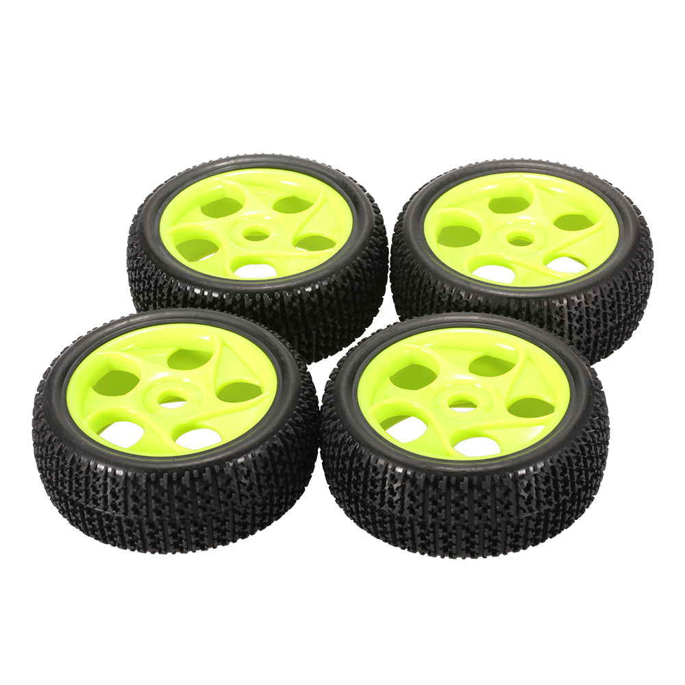 Image 5 - 4pcs High Quality 112mm Rubber Tires 17mm Hub Hex Wheel Rim for 1/8 RC Crawler Buggy Off Road Car Truck RC Toys Kid-in Parts & Accessories from Toys & Hobbies