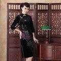 Chinese style dress Cheongsam wholesale 2015 new hand-painted long retro Velour cheongsam improved cheongsam dress fashion party