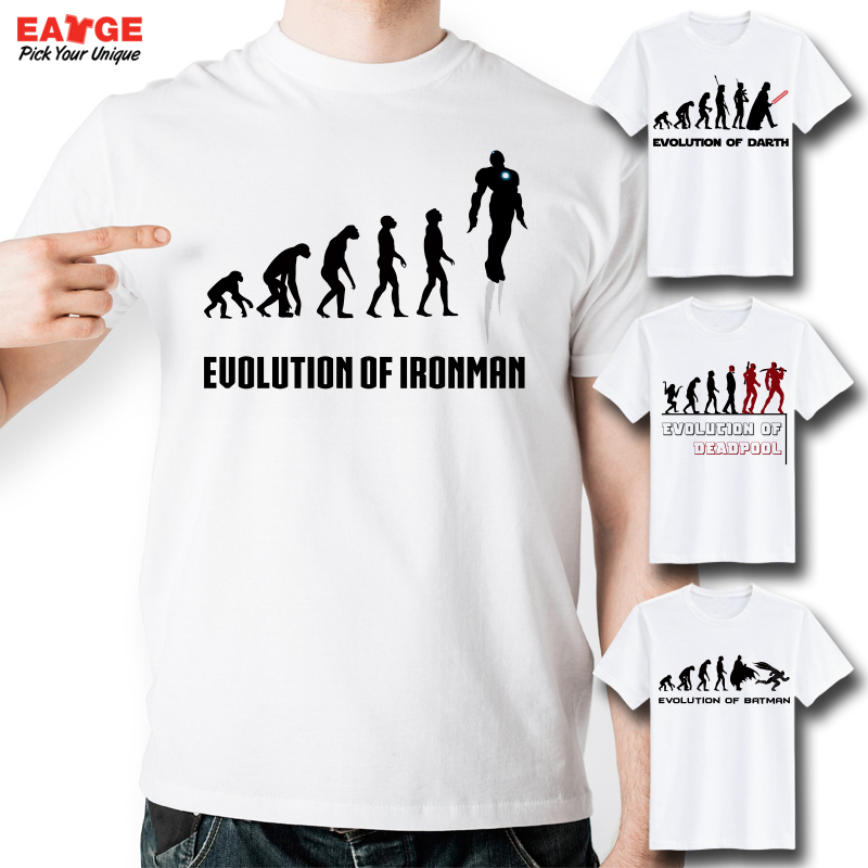 Original Creative Evolution Series T Shirt Funny Fashion Superhero ...