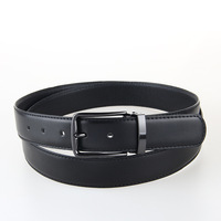 2016 New Mens Fashion Leather Belt Leisure Business Cowskin Black Casual One Size Cintos 100cm 135cm
